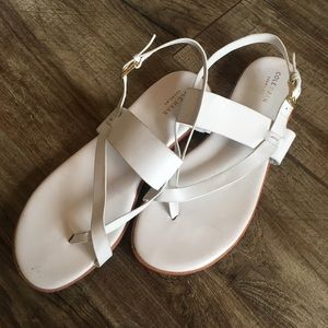 Cole Haan white leather sandals